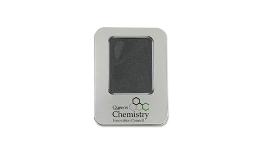 Caja de metal personalizada con ventana para Memoria USB