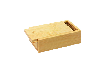 Caja de madera memoria usb madera