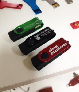 Memorias USB de metal grabadas al láser