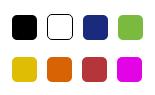 Metal clip colores