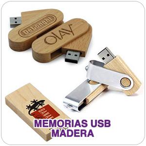 Memorias usb de madera