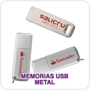 Memorias USB de metal