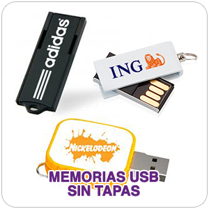 Memorias USB sin tapa