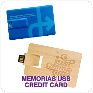 Memorias usb con forma de tarjeta de crédito