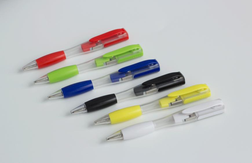 Memoria USB personalizada + bolígrafo Practic